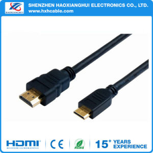 Cheapest Mini HDMI to HDMI Gold-Plated HDMI 1.4V 1080P pictures & photos