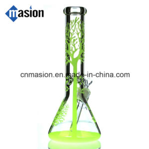 Colorful Beaker Glass Water Pipe for Tobacco (ZY004) pictures & photos