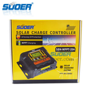 Suoer 12V 24V 20A Solar MPPT Charge Controller (SON-MPPT-20A) pictures & photos
