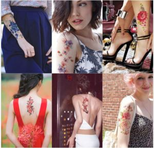 fashion Sexy Flower Temporary Tattoo Stickers Art Tattoo Sticker pictures & photos