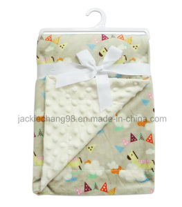 Embossed Micro Mink Baby Blanket pictures & photos