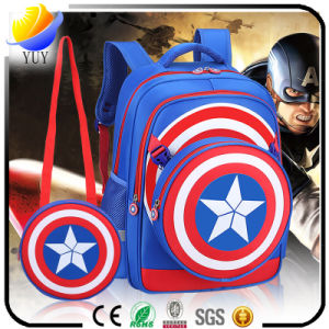 Korean Cartoon Picture Captain America Children Bag pictures & photos