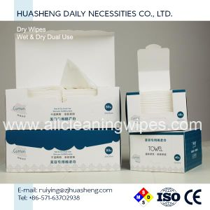Disposable Cotton Facial Tissue Dry Wipes pictures & photos