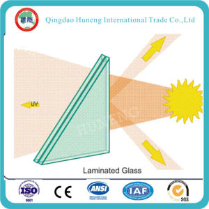 Clear/Colored/Tinted/Tempered Safety PVB Laminated Building Glass pictures & photos