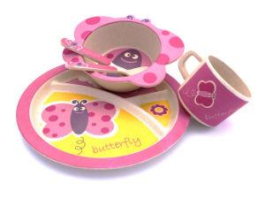 BPA Free Eco Bamboo Fiber Kitchenware Kids Dinnerware Set (YK-KS002) pictures & photos