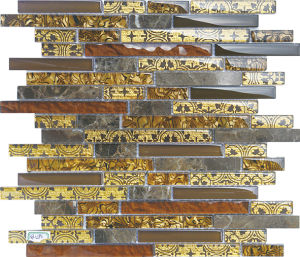 Glass Marble Strip Mosaic, Crystal Stone Mosaic, Floor Wall Tiles pictures & photos