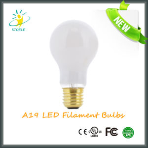 A19 4W/6W/8W LED Filament Bulb with Ce RoHS UL Certifications pictures & photos