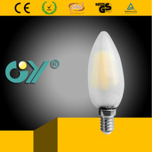Filament Light C37 4W E27 3000k LED Candle pictures & photos