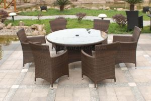 Mtc-069 Outdoor Rattan Round Table and Chair Set pictures & photos