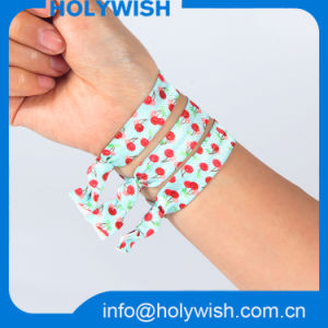 DOT Printing Wrist Ribbon Fabric Elastic Band for Hair pictures & photos
