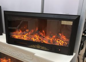 Hotel Furniture Beautiful Vivid LED Flame Fireplace Electric Heater (A-803S) pictures & photos