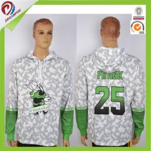 Custom Sublimated Kid Men White Fashion Hoody Jacket pictures & photos