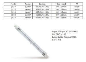 High Power 400W J118 Eco Halogen Lamp with Ce RoHS ERP pictures & photos