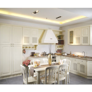 Luxurious Traditional Ashtree Solid Wood Grain Double Island Kitchen Furniture Cabinet pictures & photos