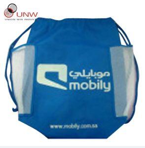 Drawstring Bag, Sport Bag with Mesh Pocket (UNW20120907-01)