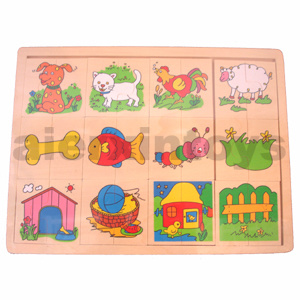 Wooden Match up Puzzle (81003) pictures & photos