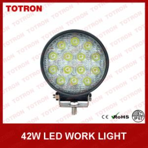 "LED Work Lamps 4"" 42W 9-32V Round Work Lights pictures & photos"