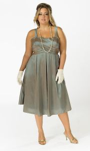 Evening Dress, Plus Size Dress (PL2028)