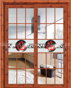 Plastic Sliding Door for Wooden House or Concrete Building pictures & photos
