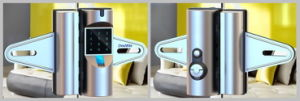 Glass Door Lock Opened by Fingerprint+Password+Card pictures & photos