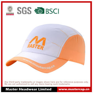 Polyester Microfiber Sports Cap with Rubber Printing pictures & photos