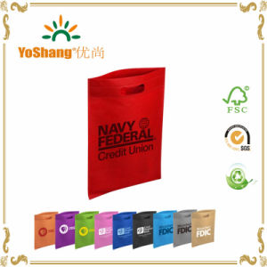 Heat Sealed Die Cut Handle Non Woven Shopping Grocery Bag for Promotion pictures & photos