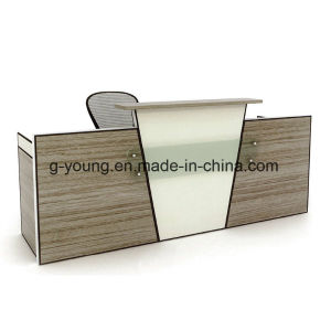 Modern Design Counter Elegant Color Selection Melamine Reception Desk Office Furniture pictures & photos