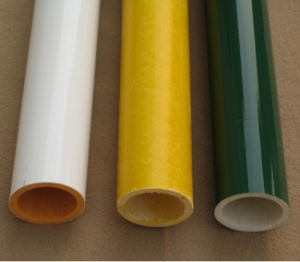 Fiber Glass Polyester Resin Tube Produced by Winding pictures & photos