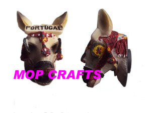 Polyresin 3D Donkey Head Crafts of Figurines Magnet pictures & photos
