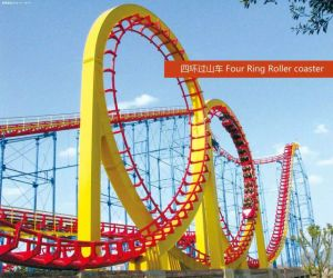 Outdoor Amusement Four Ring Roller Coaster pictures & photos
