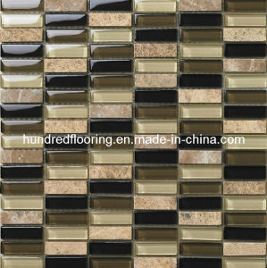 Crystal Glass Mix Stone Mosaic Tile (HGM248) pictures & photos