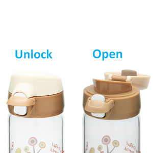 One Touch Open Glass Water Bottle pictures & photos