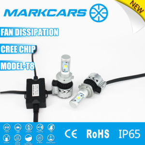 Markcars 6500k CREE Headlight Bullb with Fan T8 pictures & photos