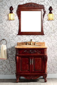 Solid Wood Bathroom Cabinet (TC3920)