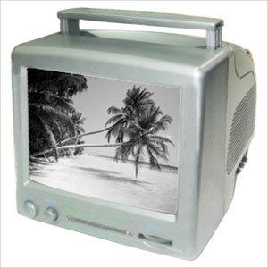 "7"" B/W Portable TV"
