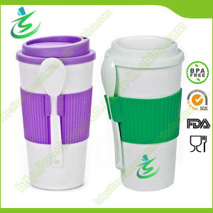 16 Oz BPA-Free Promotional Coffee Cup with Lid and Spoon pictures & photos
