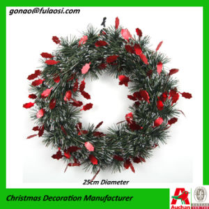 Christmas Decoration Metallic Garland Wreath