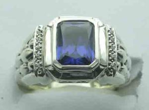 925 Sterling Silver Ring with Tanzania Cz (R67159)