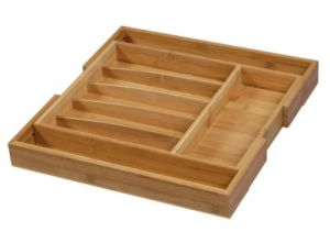 Eco-Friendly Bamboo Expandable Cutlery Trays