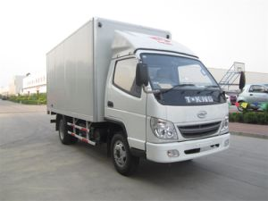 China Light Truck 2 Ton Small Box Truck pictures & photos