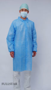 Disposable Non-Woven Lab Coat Jacket pictures & photos