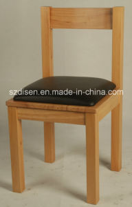 Solid Wood Dining Chair with PU Padding Seat (DS-C132)