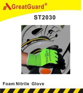 Foam Nitrile Glove (ST2030) (CE Certificate) pictures & photos