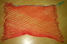 Red Colour PE Material Mesh Bag (HT-MB-01) pictures & photos