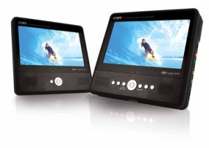 7′′TFT Tablet DVD/CD/MP3 Player with Dual Screen (TFDVD7750)
