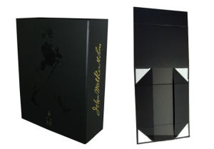 High Quality Elegant Paper Foldable Wine Box (YY-W004) pictures & photos
