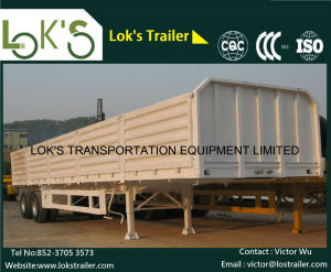 40 Feet 2 Axle Side Side Drop Semi Trailer pictures & photos