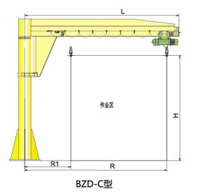 Model Bzd-C Pillar Type Jib Crane