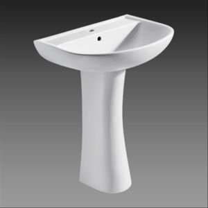 Eagoo Sanitare Ware of Pedestal Basin with Nano Self-Clean Glaze