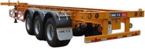 Cimc 45FT Three Axle Gooseneck Skeleton Semi-Trailer with Twist Locks Truck Chassis pictures & photos